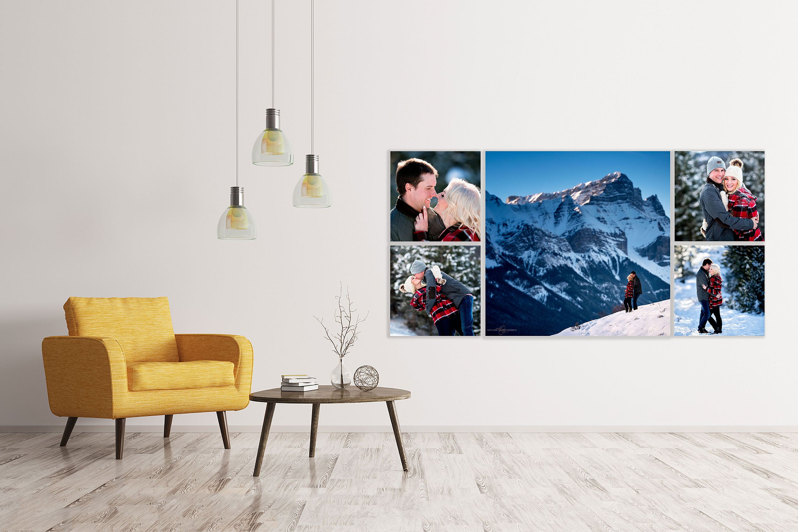 large wall art collection by top calgary portrait photographer sean leblanc