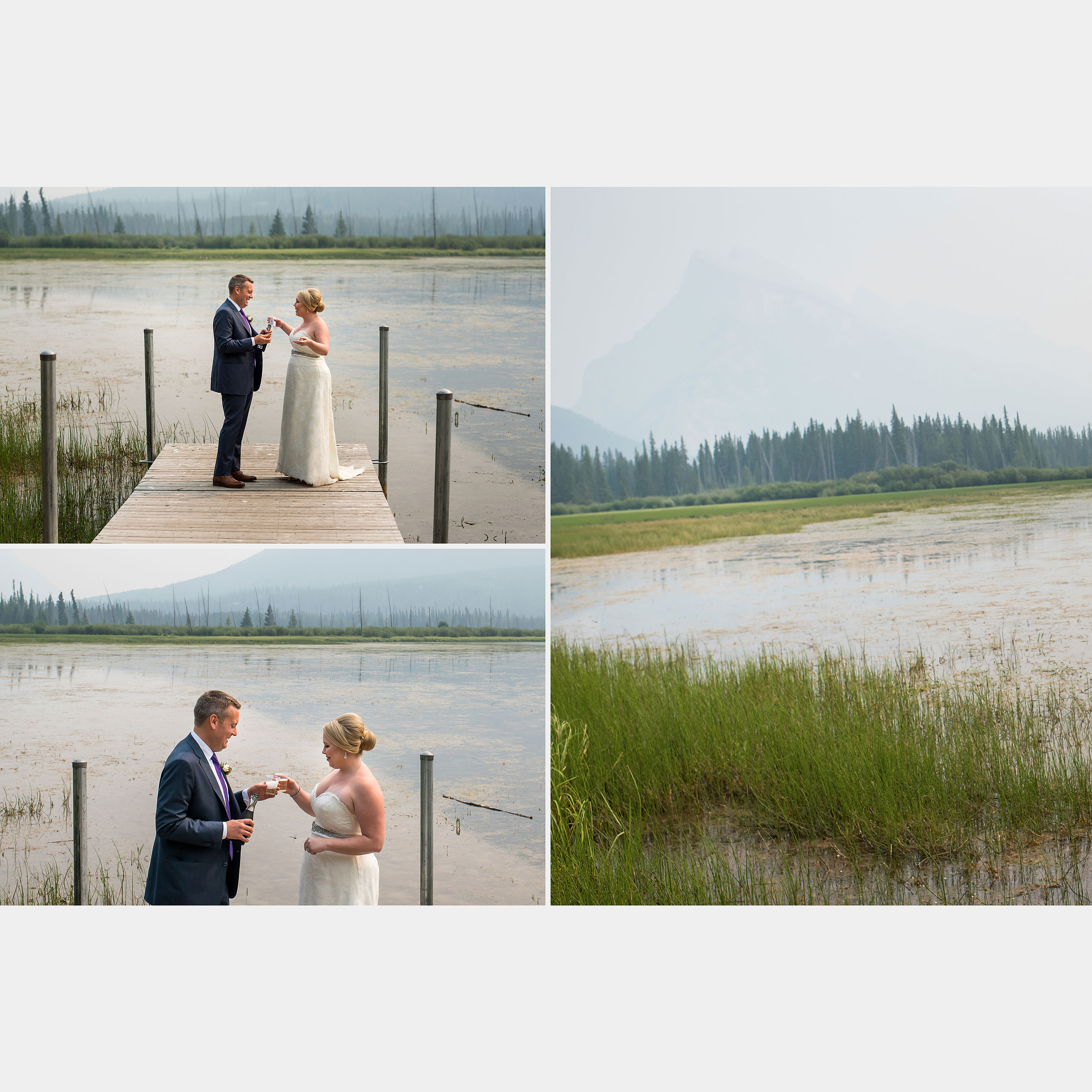 heirloom wedding album by Banff photographer sean leblanc
