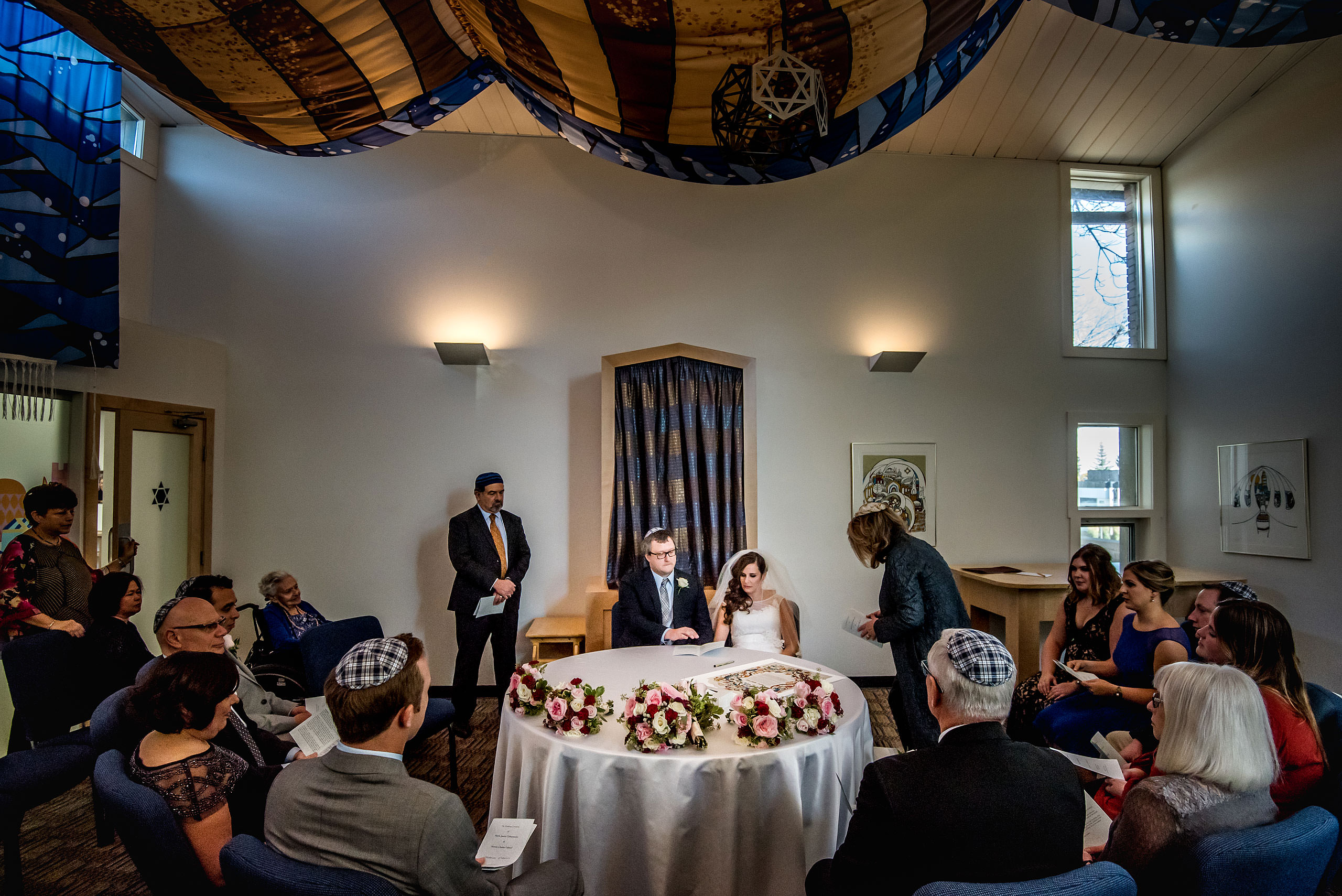 a jewish wedding ceremony by Calgary Jewish Wedding Photographer Sean LeBlanc