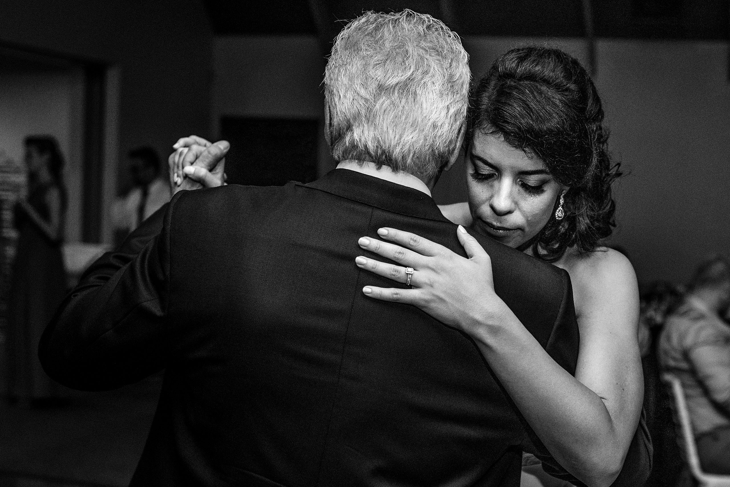 a bride dancing with her dad by Edmonton wedding photographer sean leblanc