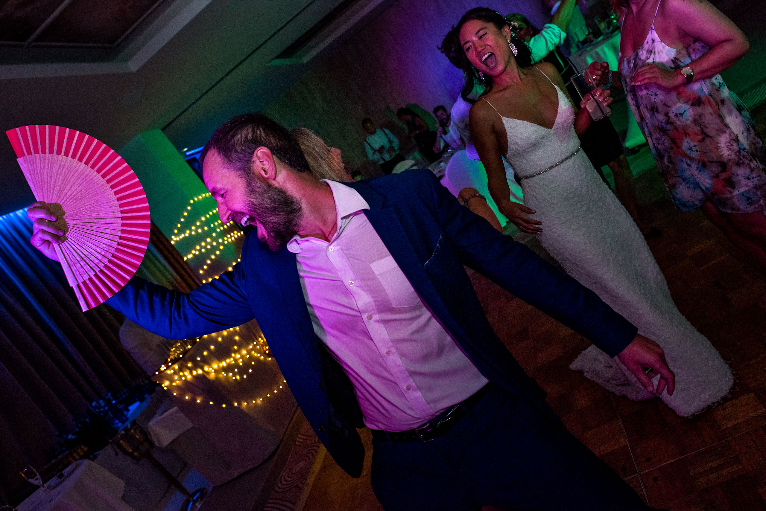 grooving on a dance floor at castillo hotel son vida destination wedding by sean leblanc