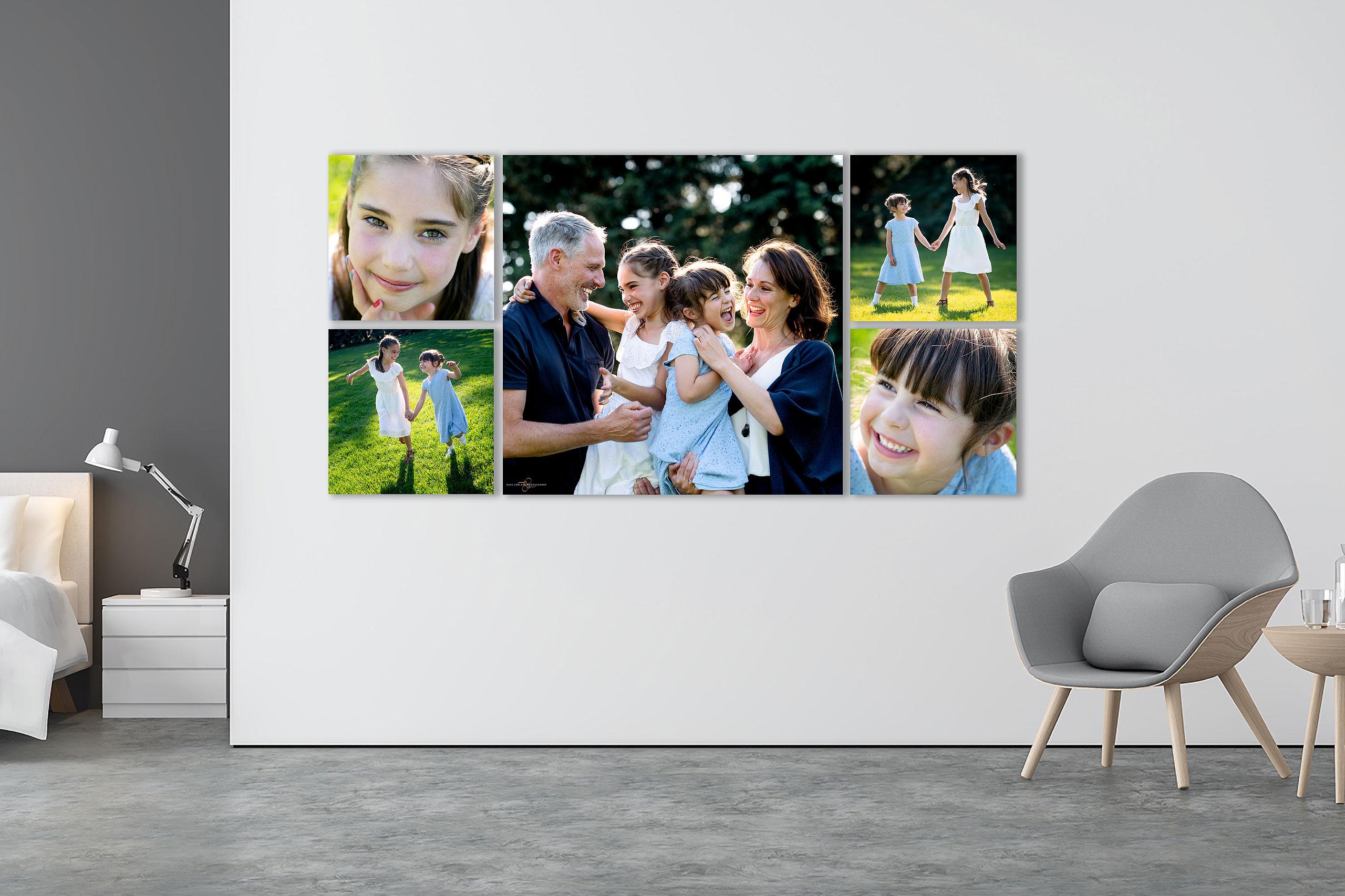 luxury wall art by family photographer sean leblanc
