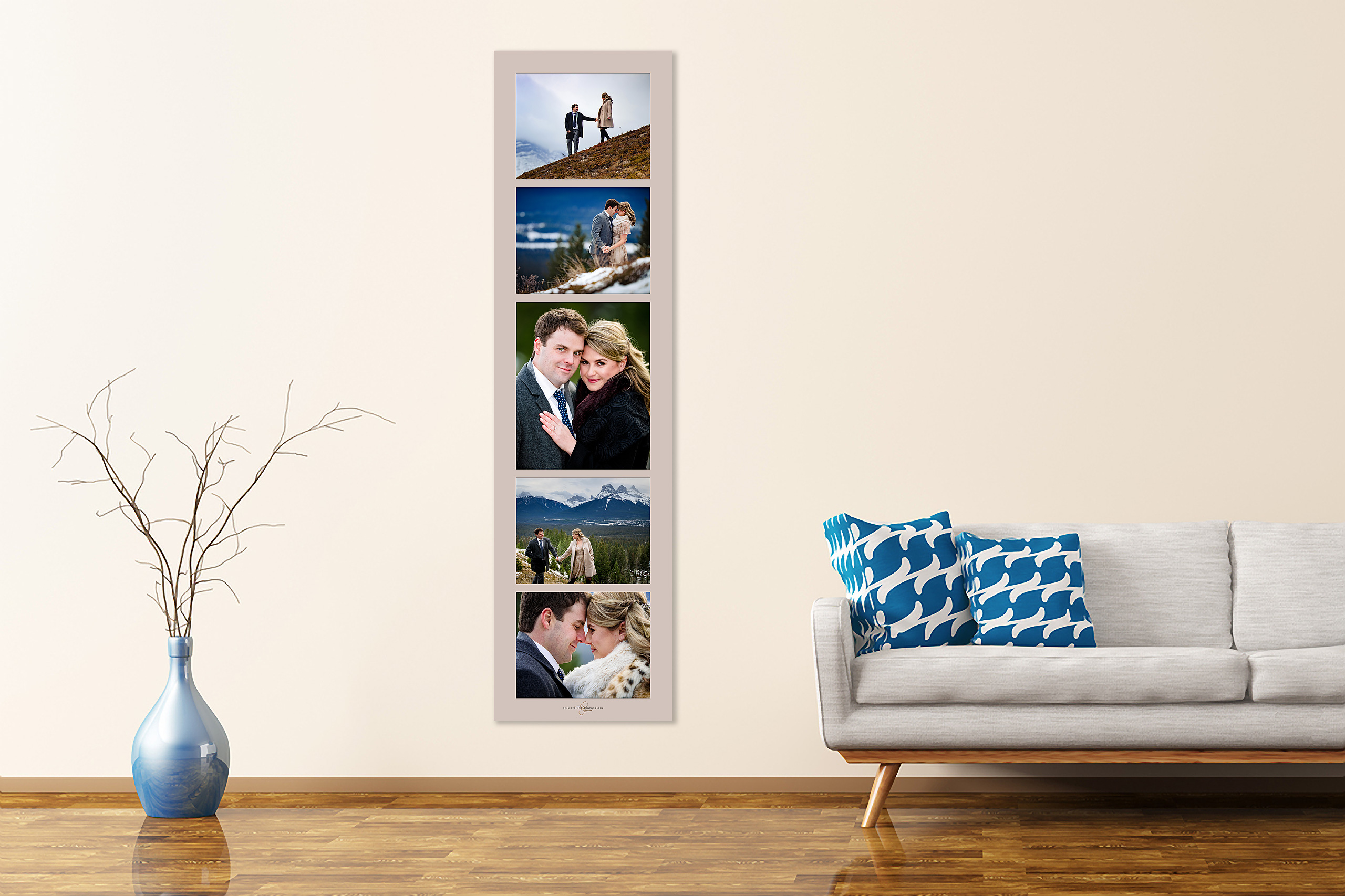 luxury wall art by engagement photographer sean leblanc