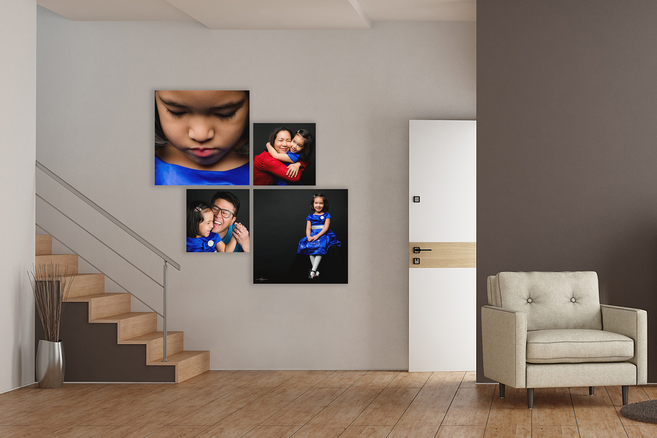 luxury wall art by family photographer sean leblanc