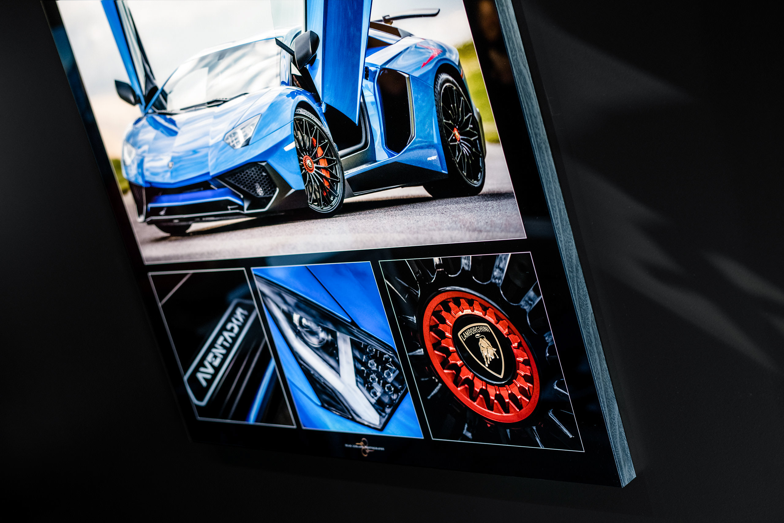 calgary Lamborghini photographer - metallic blue Lamborghini aventador artwork