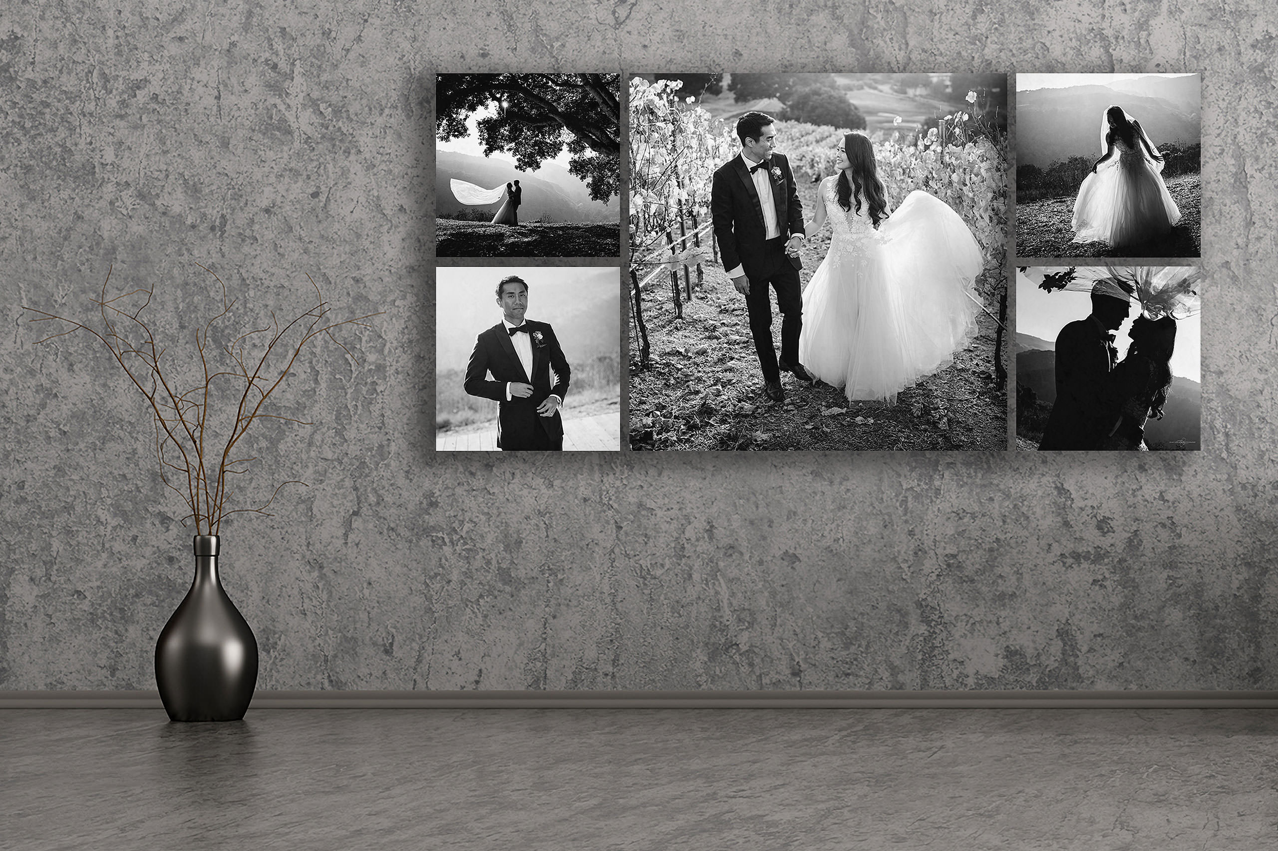 Wall art collection by Carmel Valley Ranch Wedding Photographer Sean LeBlanc
