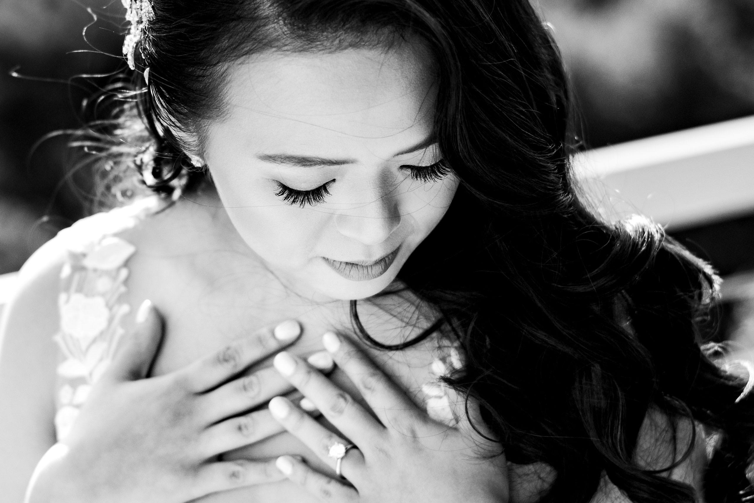 Beautiful bride by Carmel Valley Ranch Wedding Photographer Sean LeBlanc